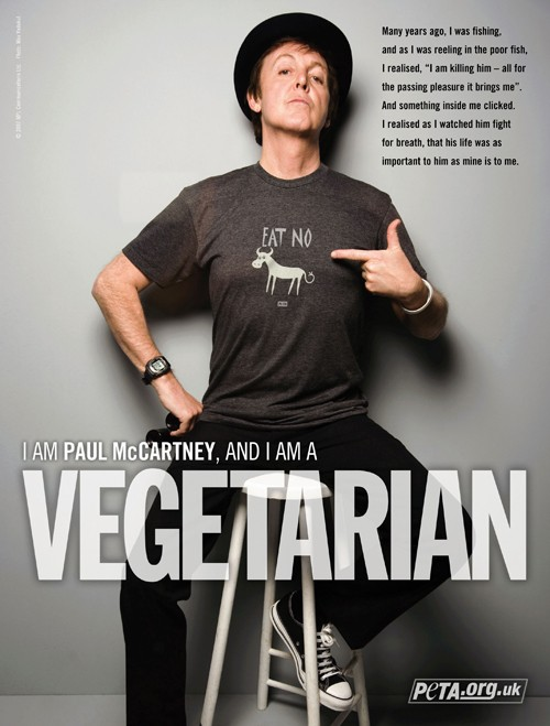 I am Paul McCartney and I am a Vegetarian - PETA