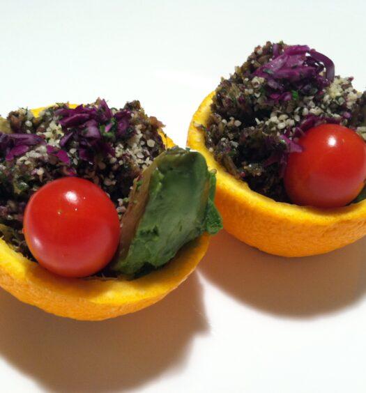Raw Gourmet Stuffed Orange Salad