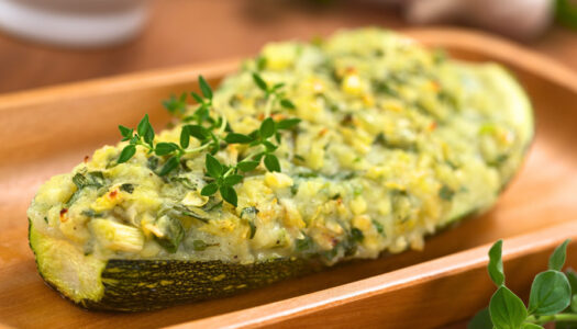 Naked Recipe: Cauliflower Stuffed Zucchini