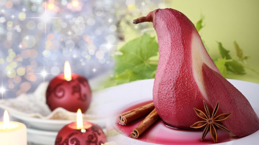 Poires au Vin Rouge et a la Cannelle | Poached Pears in Red Wine with Cinnamon