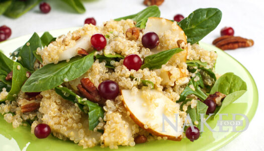 Naked Recipe: Quinoa Pear Pecan Salad