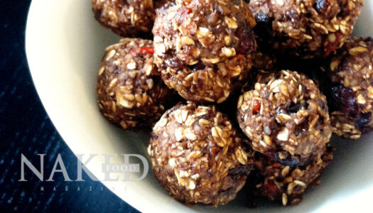Naked Recipe: No-bake Cacao + Goji Super Cookies