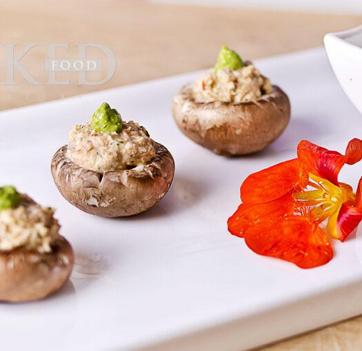 Naked Recipe: Nutty Pesto Caps - Naked Food Magazine