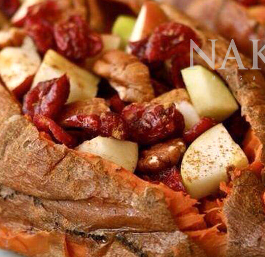 Naked Recipe: Stuffed Sweet Potato @Naked Food Magazine