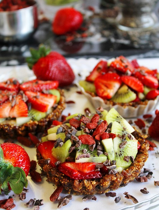 Berry Fruit Tarts with Chia Seeds | Naked Food Magazine