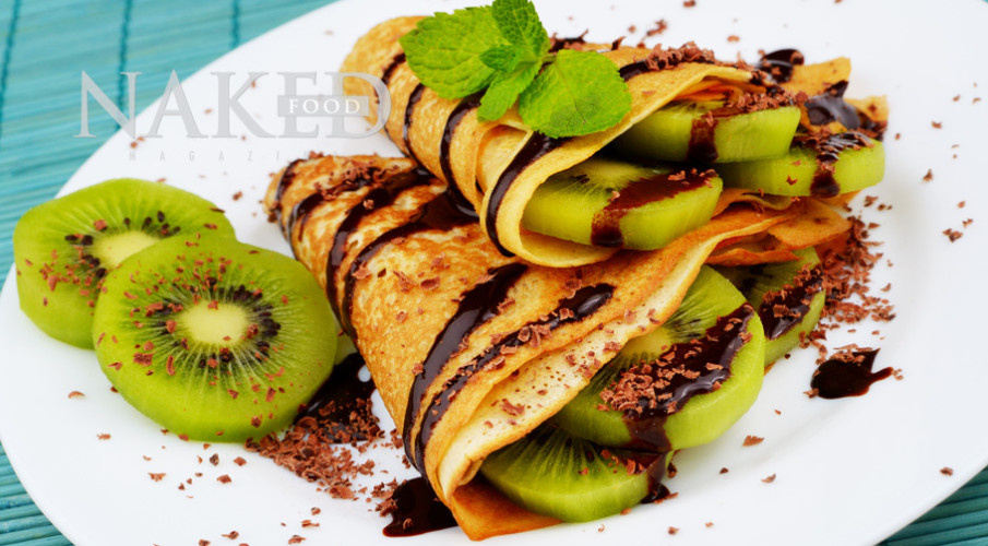 Naked Recipe: Kiwi Cacao Crepes