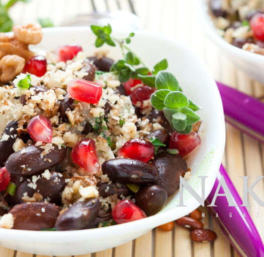 Naked Recipe: Bean and Pomegranate Bowl @Naked Food Magazine
