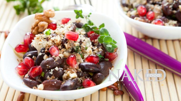Naked Recipe: Bean and Pomegranate Bowl @Naked Food Magazine