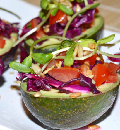 Cabbage Stuffed Avocados @ Naked Food Magazine