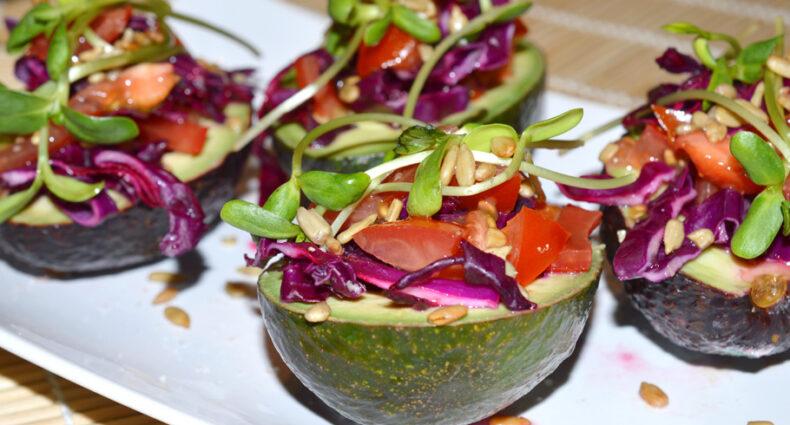 Cabbage Stuffed Avocados @ Naked Food Magazine