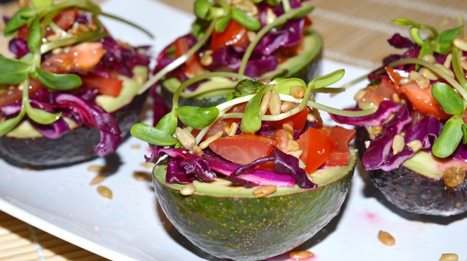 Cabbage Stuffed Avocados