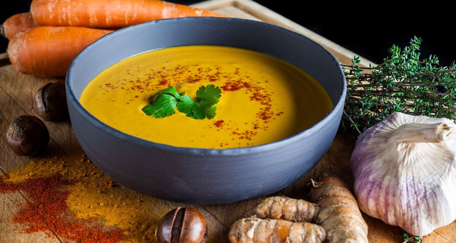 Roasted Chestnut, Carrot, & Turmeric Bisque