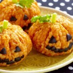 Plant-based Halloween Risotto Jack-O'-Lanterns