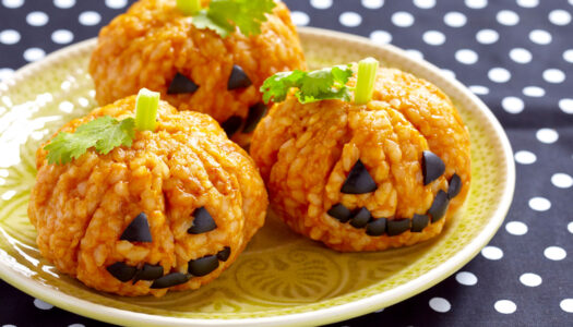 Risotto Jack-O'-Lanterns