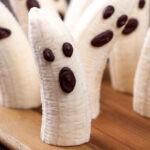 Halloween recipe: Two-Ingredient Banana Ghosts | Plant-based, vegan, gluten-free oil-free, salt-free | Naked Food Magazine