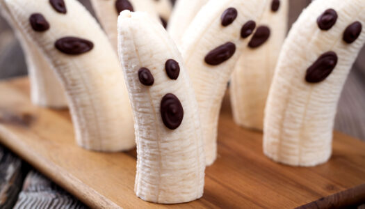 Whole-oween Two-Ingredient Banana Ghosts