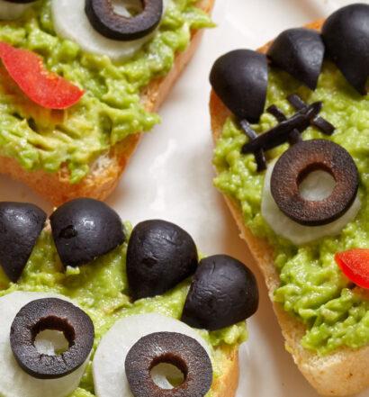 Halloween Franken Tapas: Halloween Franken Tapas: Plant-based, vegan, gluten-free, oil-free, salt-free recipe | Naked Food Magazine