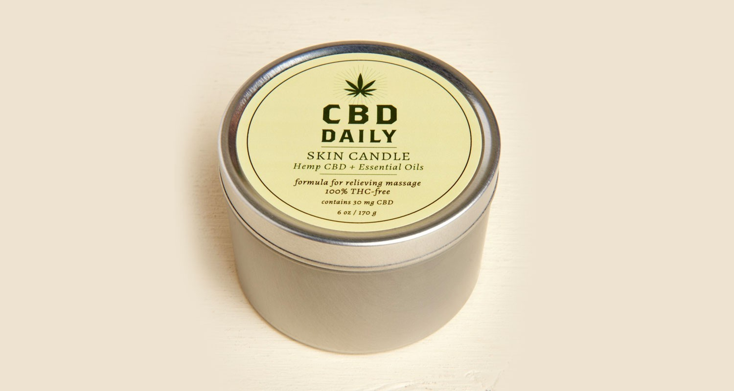 CBD Skin Candle | Holiday Gift Guide2017 | Naked Food Magazine