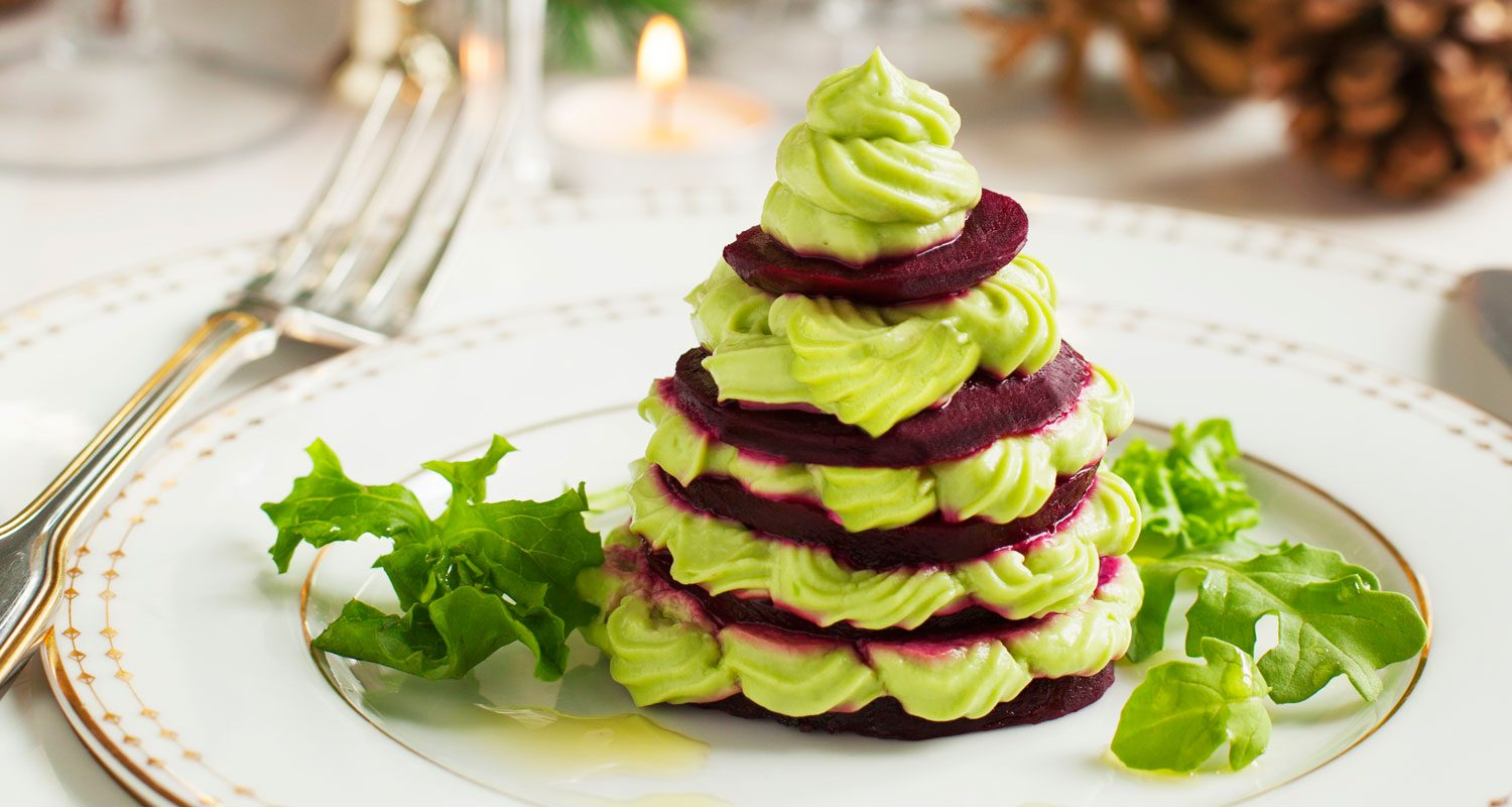 Beet and Bean Mini Holiday Trees | Holiday Plant-based Vegan Recipes | Naked Food Magazine