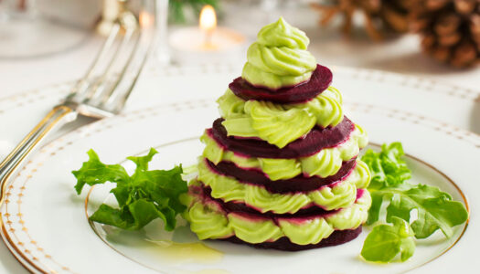 Beet and Bean Mini Holiday Trees