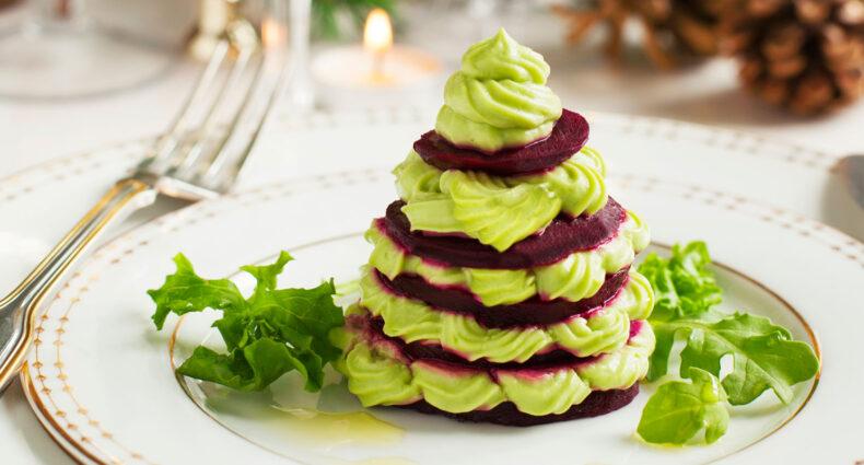 Beet and Bean Mini Holiday Trees | Holiday Plant-based Vegan Recipes | Naked Food Magazine