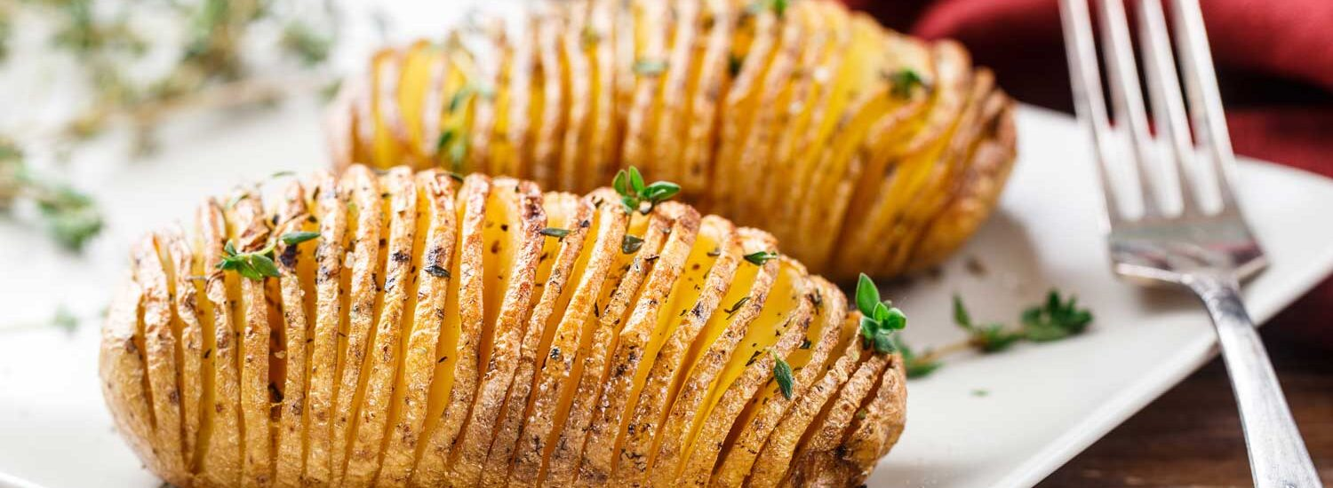 Holiday Hasselback Potatoes | Holiday Plant-based Vegan Recipes | Naked Food Magazine