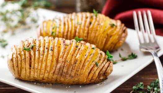 Holiday Hasselback Potatoes