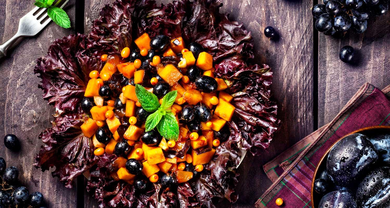 Holiday Squash & Berry Salad   Holiday Plant-based Vegan Recipes   Naked Food Magazine
