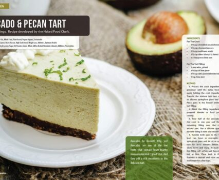 Naked Food Magazine Winter 2018 | Avocado & Pecan Tart