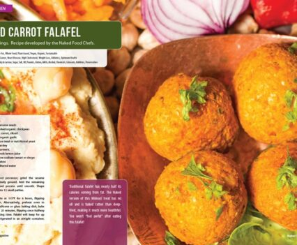 Naked Food Magazine Winter 2018 | Naked Carrot Falafel