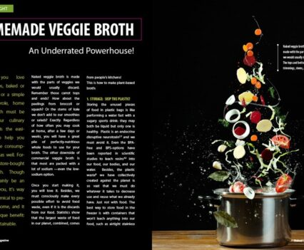 Naked Food Magazine Winter 2018 | Homemade Veggie Broth