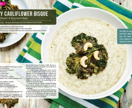 Naked Food Magazine Winter 2018 | Nutty Cauliflower Bisque