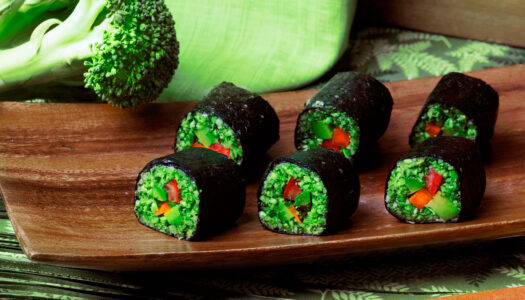 Almighty Sushi Rolls with Mango-Ginger Dipping Sauce